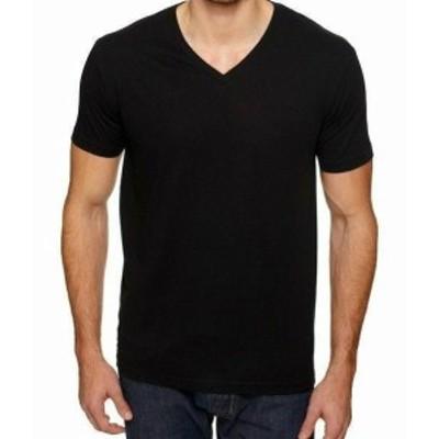 ファッション トップス Vneck New Mens V-Neck T-Shirt 100% Cotton Plain V Neck Tee Black Comfy XS-2XL