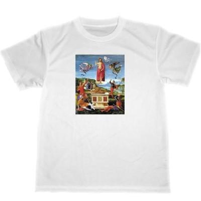 ラファエロ・サンティ キリストの復活 ドライ Tシャツ 名画 アート グッズ