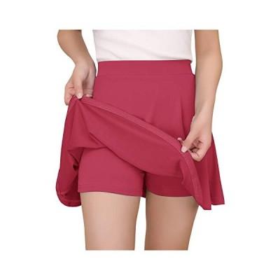 YoYaker インナー付き スカート 黒い ミニスカート ストレッチ スカート 白い スカート 無地 美脚 カジュアル ス