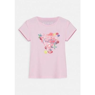 ゲス キッズ ファッション Print T-shirt - alabaster pink