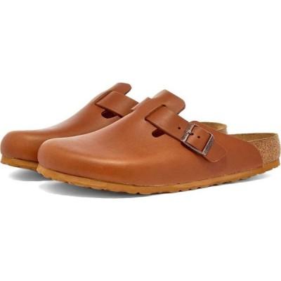 ビルケンシュトック Birkenstock メンズ サンダル シューズ・靴 boston Natural Cognac Smooth Leather