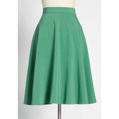 モドクロス ModCloth レディース ひざ丈スカート スカート just this sway a-line skirt green