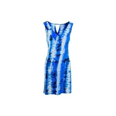 スリードッツ ドレス ワンピース Three Dots 5110 レディース ネイビー Tie-Dye ノースリーブ ミニ カジュアル ドレス L BHFO
