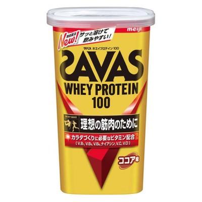 明治ザバス(SAVAS) ホエイプロテイン100 ココア味 14食分 1袋 明治 プロテイン