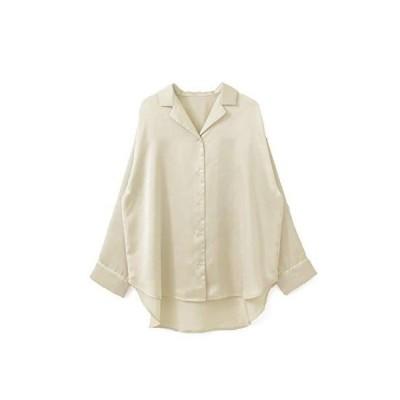 ケービーエフ ルームウェア KBF+ パイピングサテンシャツ レディース KP14-23N120 CREAM one