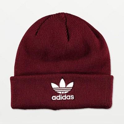 Adidas/アディダス adidas メンズ ビーニー ニット帽 レッド Trefoil Burgundy & White Beanie