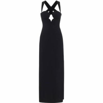 ヴェルサーチ Versace レディース パーティードレス ワンピース・ドレス Stretch-crepe gown Nero