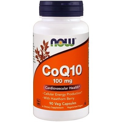 CoQ10 with Hawthorn Berry, 100 mg, 90 Veg Capsules
