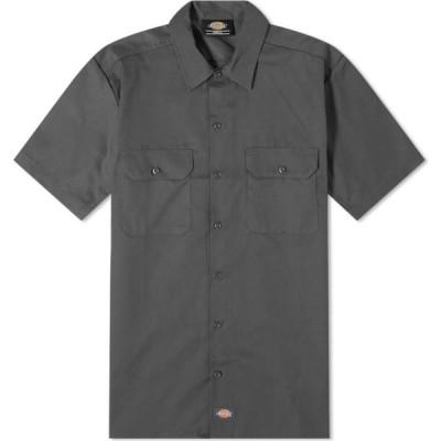 ディッキーズ Dickies メンズ 半袖シャツ トップス short sleeve work shirt Charcoal Grey