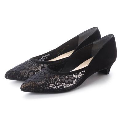 アンタイトル シューズ UNTITLED shoes チュールレースパンプス (ブラック)
