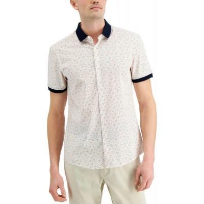 マイケル コース Michael Kors メンズ シャツ スキニー・スリム トップス Slim-Fit Stretch Multi-Dot Print Shirt Optic Orange