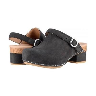 Dansko ダンスコ レディース 女性用 シューズ 靴 クロッグ ミュール Marty - Black Milled Nubuck