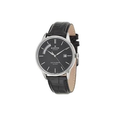 エドックス Edox Les Vauberts Day Date オートマチック メンズ オートマチック 腕時計 83007-3-NIN