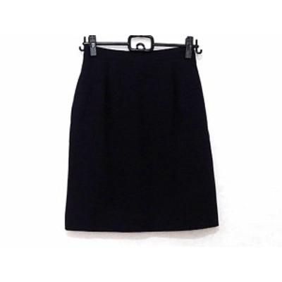 フォクシー FOXEY スカート サイズ40 M レディース ダークネイビー BOUTIQUE【中古】20190713