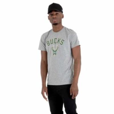 new-era ニュー エラ ファッション 男性用ウェア Tシャツ new-era team-logo-milwaukee-bucks