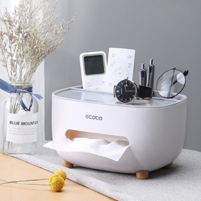 桌面多功能收納面紙盒/衛生紙盒 (3色)