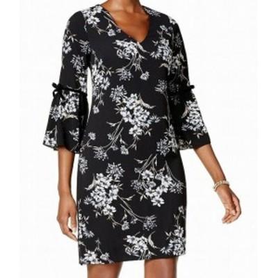 Jessica Howard ジェシカハワード ファッション ドレス Jessica Howard NEW Black Womens Size 6P Petite Floral Shift Dress