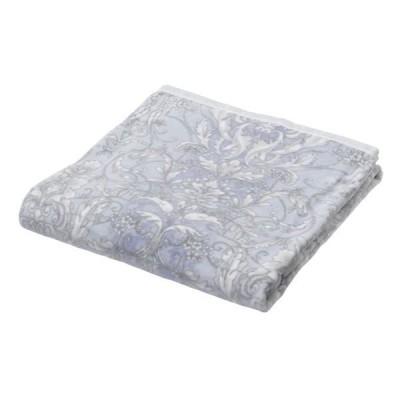 〔西川〕 洗える 綿毛布/寝具 〔ブルー〕 約140×200cm パイル糸(毛羽部分):綿100% 通年使用 日本製 〔寝室 ベッドルーム〕〔代引不可〕
