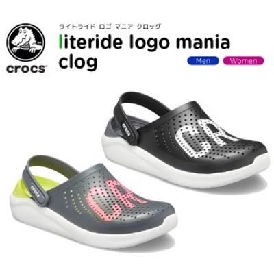 クロックス(crocs) ライトライド ロゴ マニア クロッグ(literide logo mania clog) メンズ/レディース/サンダル[H][C/B]