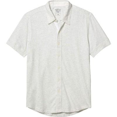 ノーマルブランド The Normal Brand メンズ 半袖シャツ トップス Short Sleeve Active Puremeso Button-Down Stone