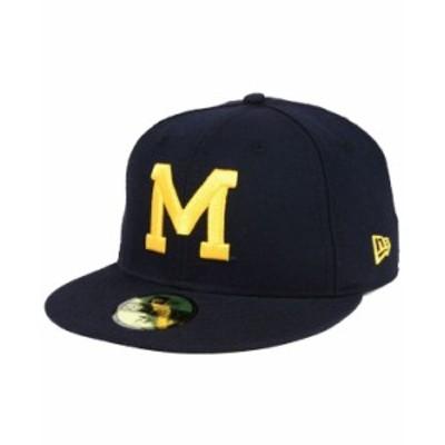 ニューエラ メンズ 帽子 アクセサリー Michigan Wolverines Vault 59FIFTY Fitted Cap Navy