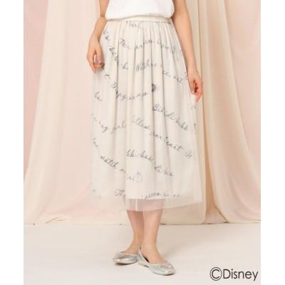 【クチュールブローチ】 「シンデレラ」/プリントスカート レディース オフホワイト 36(S) Couture Brooch