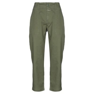 クローズド CLOSED パンツ ミリタリーグリーン 26 コットン 97% / ポリウレタン 3% パンツ