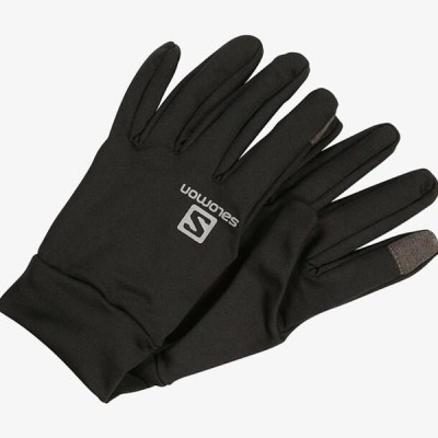サロモン メンズ スポーツ用品 AGILE WARM GLOVE - Gloves - black