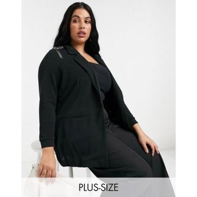 ジュナローズ Junarose レディース スーツ・ジャケット アウター Embellished Shoulder Blazer In Black ブラック