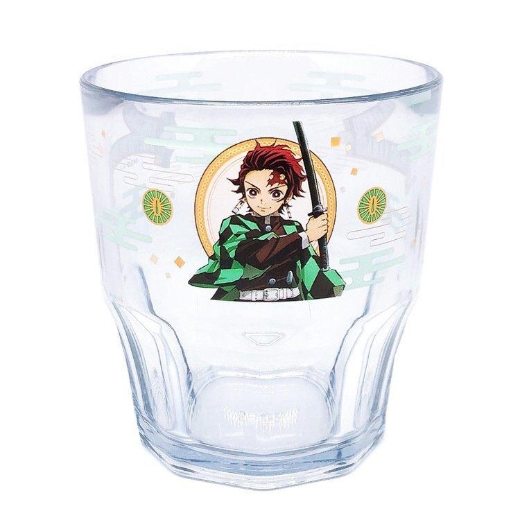 大賀屋 日本製 鬼滅之刃 水杯 茶杯 杯子 塑膠杯 透明杯 小杯子 漱口杯 環保杯 杯 正版 J00050517