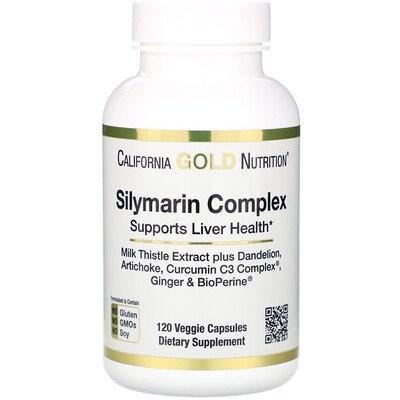 シリマリンコンプレックス、肝臓の健康、オオアザミ、クルクミン、アーティチョーク、タンポポ、ショウガ、ブラックペッパー、300mg、植物性カプセル120錠