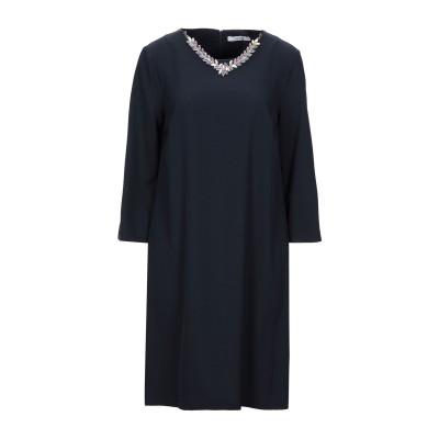 LANACAPRINA ミニワンピース&ドレス ダークブルー 42 ポリエステル 95% / ポリウレタン 5% ミニワンピース&ドレス