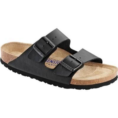 ビルケンシュトック Birkenstock レディース サンダル・ミュール シューズ・靴 Arizona Soft Footbed Birko-Flor Sandal Black Synthetic Leather