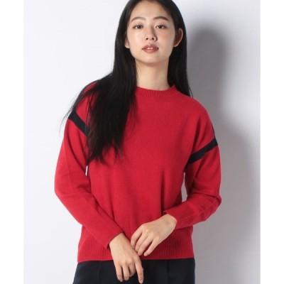 【ラピーヌ ブルー】【洗える】カシミヤ クルーネックセーター