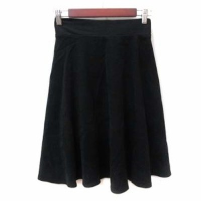 【中古】ディスコート Discoat フレアスカート ギャザー ミモレ ロング F 黒 ブラック /YI レディース