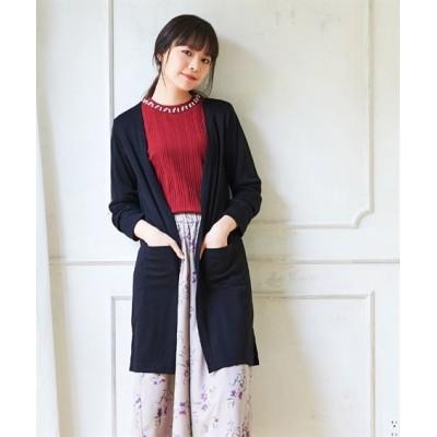 【大きいサイズ】 カットソーロングカーディガン  plus size cardigan,