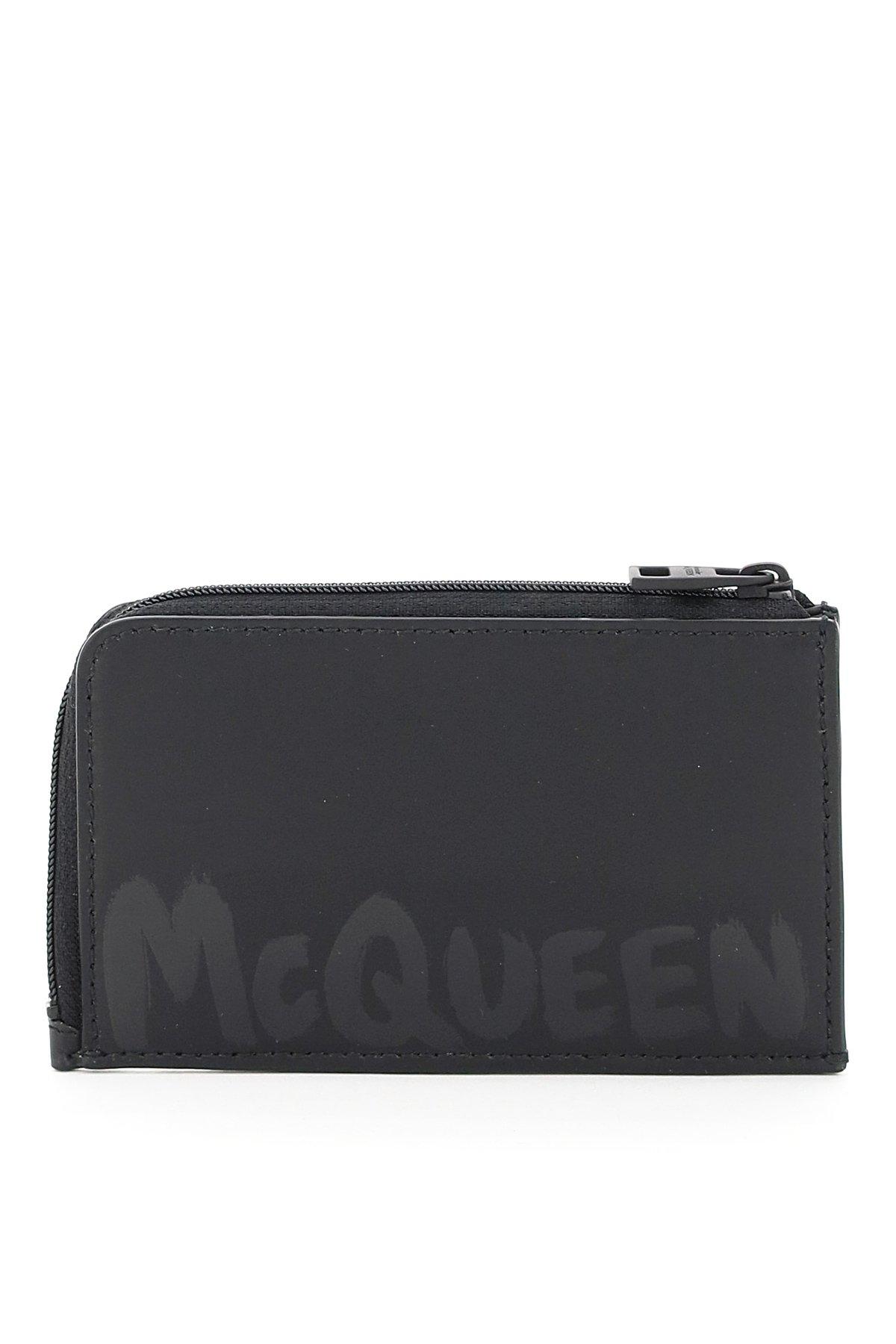 Alexander mcqueen graffiti logo card pouch