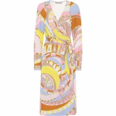 エミリオ プッチ Emilio Pucci レディース ワンピース ミドル丈 ワンピース・ドレス Printed jersey midi dress Rosa/Giallo