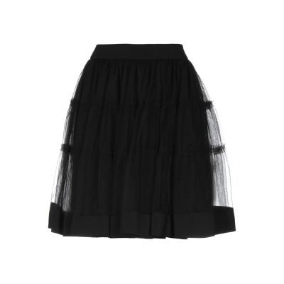 モスキーノ MOSCHINO ひざ丈スカート ブラック 38 ナイロン 100% / シルク ひざ丈スカート