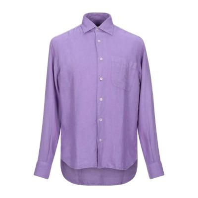 HARDY CROBB'S シャツ モーブ S リネン 100% シャツ