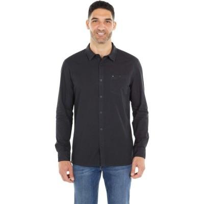 クイックシルバー Quiksilver メンズ シャツ トップス Taxer Long Sleeve Black