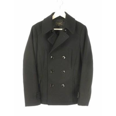 【中古】ヴァンキッシュ VANQUISH メルトンショートPコート VJJ6036 ピーコート M 黒 ブラック アウター 長袖 メンズ