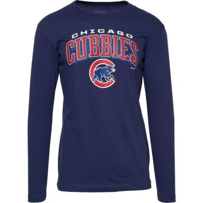 マジェスティック Majestic メンズ 長袖Tシャツ トップス MLB Iconic Local Team Logo L/S T-Shirt MLB Chicago Cubs Navy