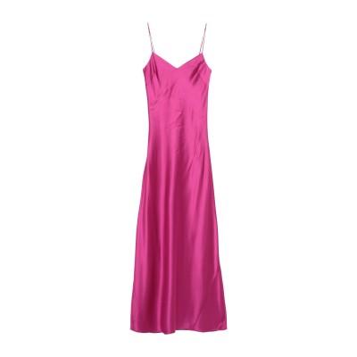 GALVAN  London ロングワンピース&ドレス フューシャ 40 トリアセテート 81% / ポリエステル 19% ロングワンピース&ドレス
