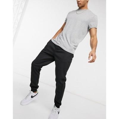 リバーアイランド メンズ カジュアルパンツ ボトムス River Island premium sweatpants in black