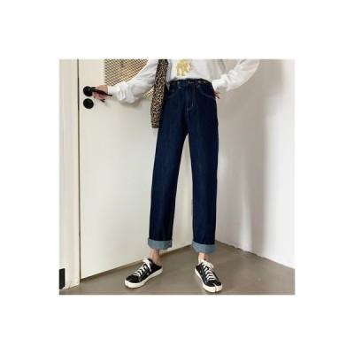 【送料無料】女性のジーンズ 荷重 秋 韓国風 ファッション ルース ワイドパンツ ハ | 364331_A63633-5185329