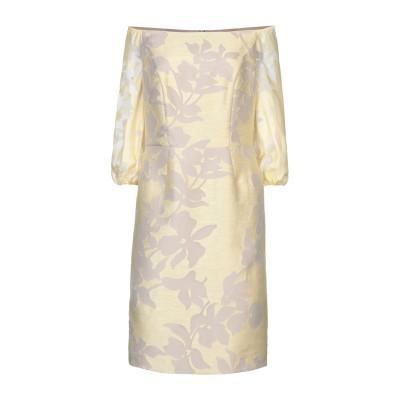 MARIA COCA ミニワンピース&ドレス ライトイエロー 40 ポリエステル 80% / シルク 20% / リネン ミニワンピース&ドレス