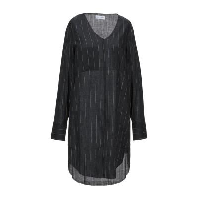 WEILI ZHENG ミニワンピース&ドレス ブラック S コットン 100% ミニワンピース&ドレス