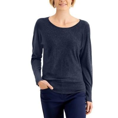 ジェイエムコレクション ニット&セーター アウター レディース Rivet Dolman-Sleeve Top Intrepid Blue