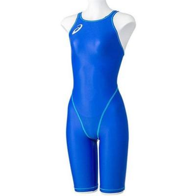 アシックス 女性用競泳水着 ハーフスパッツ(S・ブルー) asics (FINA承認)競泳用 2162A095-400-S 返品種別B